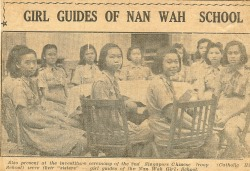 School History 1961, Girl Guides