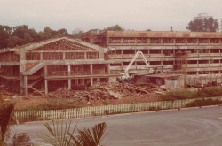 School History 1983, Clementi Ave Building taking shape